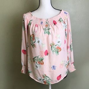 Express NWT Off Shoulder Floral Long Sleeved Top M